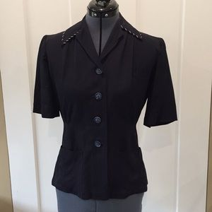 Flawless, stunning 1940's Navy Blouse